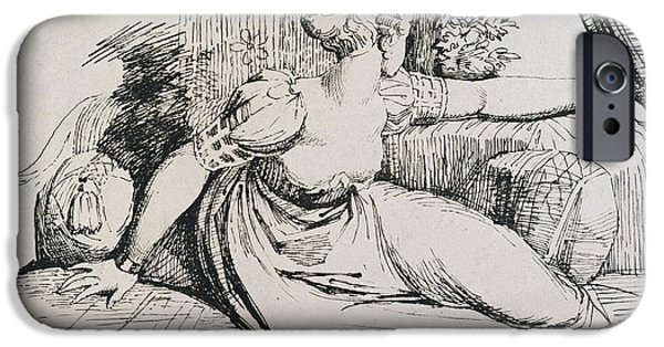 Pen And Ink Drawing Drawings iPhone Cases - O Evening thou Bringest All iPhone Case by Henry Fuseli