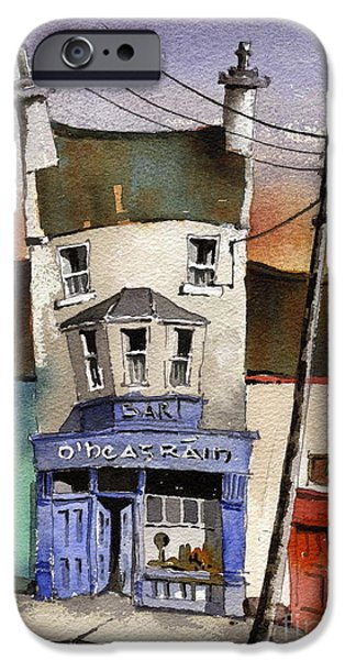 O Heagrain Pub in Ennistymon   Clare iPhone Case by Val Byrne