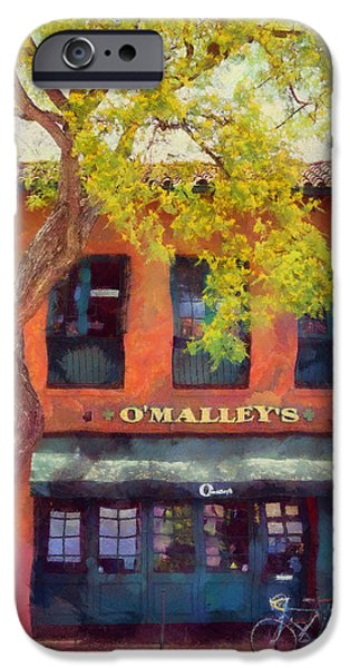 Food And Beverage Reliefs iPhone Cases - O Malleys Bar Santa Barbara iPhone Case by Viktor Savchenko
