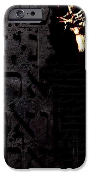 Jesus Digital iPhone Cases - O Sacred Head iPhone Case by Gary Bodnar
