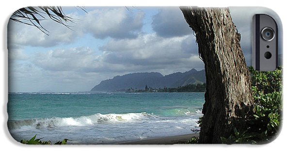 John Stewart iPhone Cases - Oahu Coastline iPhone Case by John Norman Stewart
