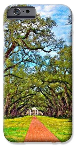 Oak Alley 3 oil iPhone Case by Steve Harrington