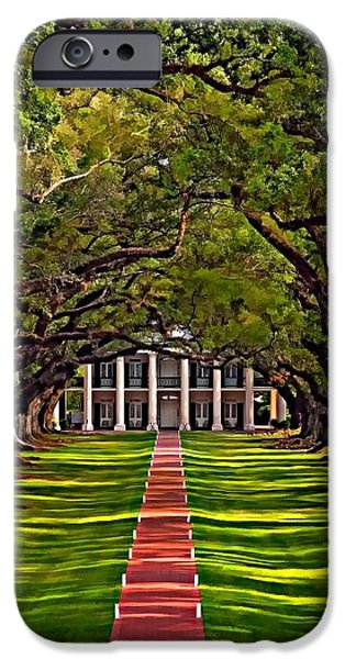 Oak Alley Plantation iPhone Cases - Oak Alley II iPhone Case by Steve Harrington