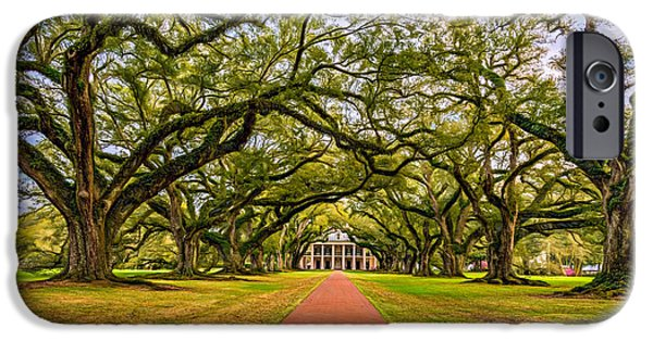 Oak Alley Plantation iPhone Cases - Oak Alley Plantation - Paint iPhone Case by Steve Harrington