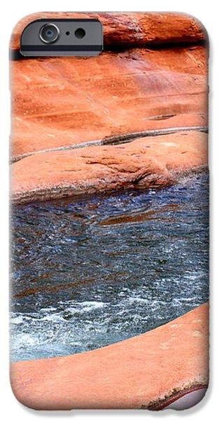 Oak Creek at Slide Rock iPhone Case by Carol Groenen