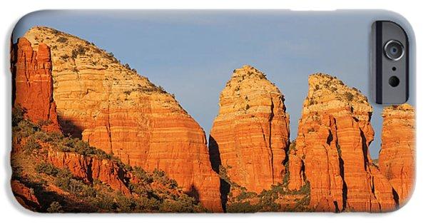 Oak Creek Digital Art iPhone Cases - Oak Creek Canyon At Sedona Arizona iPhone Case by Tom Janca