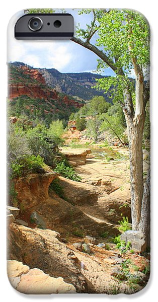 Oak Creek iPhone Cases - Over Slide Rock iPhone Case by Carol Groenen