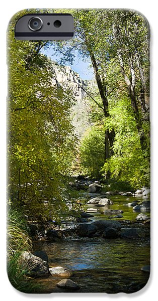 Oak Creek iPhone Cases - Oak Creek Canyon Creek Arizona iPhone Case by Douglas Barnett