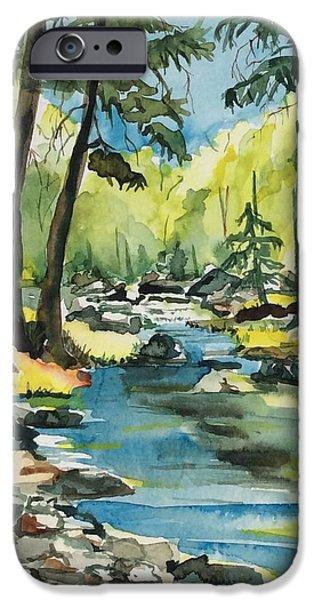 Oak Creek Paintings iPhone Cases - Oak Creek Canyon iPhone Case by Diane Wallace