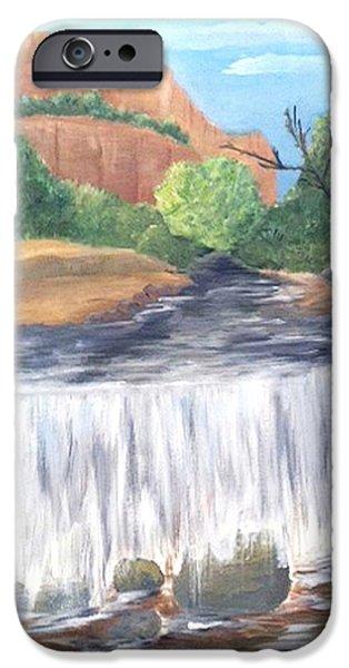 Oak Creek Paintings iPhone Cases - Oak Creek iPhone Case by Deborah Bagoy
