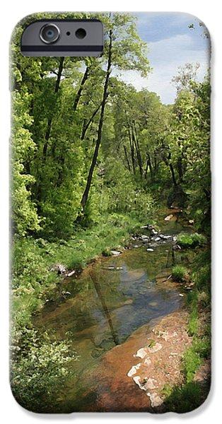 Oak Creek Paintings iPhone Cases - Oak Creek iPhone Case by Ellen Henneke