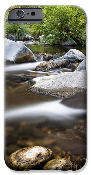 Oak Creek iPhone Cases - Oak creek flowing iPhone Case by Bryan Keil