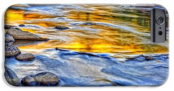 Oak Creek iPhone Cases - Oak Creek Reflections iPhone Case by Robert Albrecht