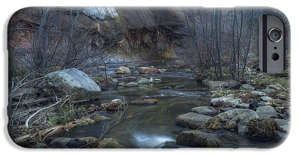West Fork iPhone Cases - Oak Creek iPhone Case by Sue Cullumber