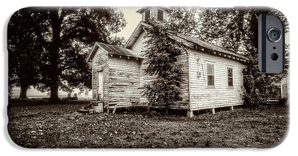 Hdr iPhone Cases - Oak Grove Church on Turnbull Island iPhone Case by Andy Crawford