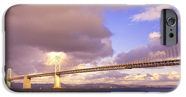 Oakland Bay Bridge iPhone Cases - Oakland Bay Bridge San Francisco iPhone Case by Panoramic Images