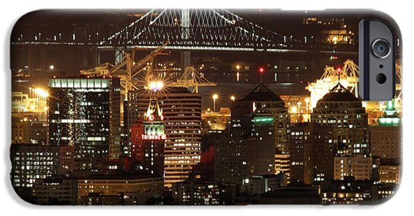 Alcatraz iPhone Cases - Oakland California Skyline iPhone Case by Nomad Art And  Design