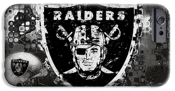 Division iPhone Cases - Oakland Raiders iPhone Case by Jack Zulli