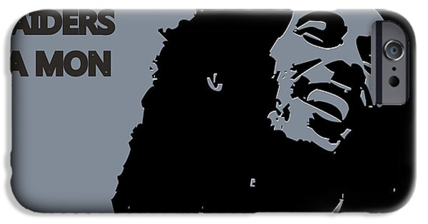 Drum Sets iPhone Cases - Oakland Raiders Ya Mon iPhone Case by Joe Hamilton