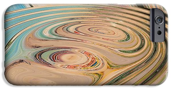 Abstract Rose Oval iPhone Cases - Oasis iPhone Case by Loredana Messina