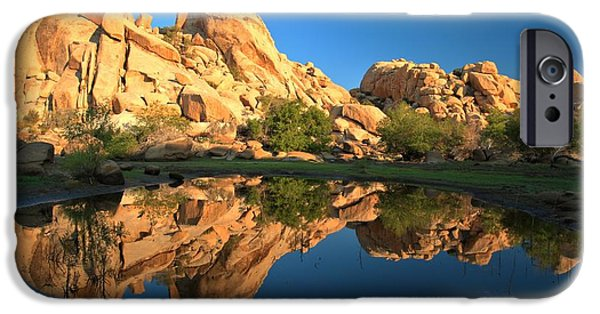 Trees Reflecting In Water iPhone Cases - Oasis Reflections iPhone Case by Adam Jewell