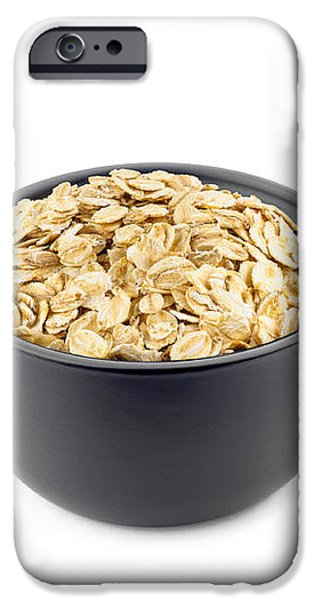 Oat Flakes in a Black Cup iPhone Case by Alain De Maximy