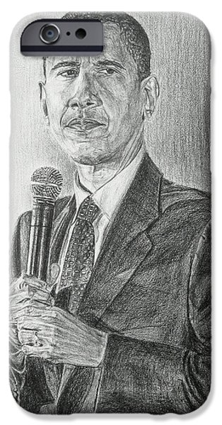 Obama 3 iPhone Case by Michael Morgan