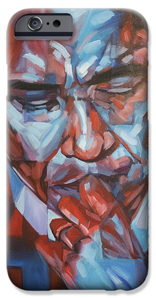 Barack Obama iPhone Cases - Obama 44 iPhone Case by Steve Hunter