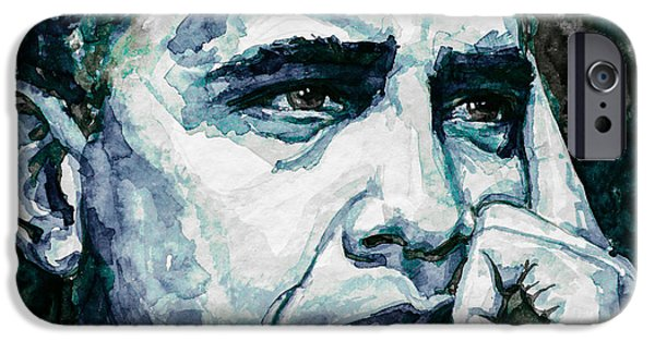 Barack Obama iPhone Cases - Obama 6 iPhone Case by Laur Iduc