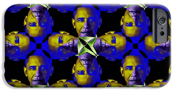Obama iPhone Cases - Obama Abstract 20130202m118 iPhone Case by Wingsdomain Art and Photography