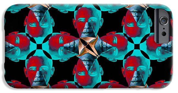 Amreicans iPhone Cases - Obama Abstract 20130202m180 iPhone Case by Wingsdomain Art and Photography