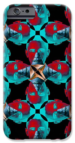Obama Abstract 20130202m180 iPhone Case by Wingsdomain Art and Photography