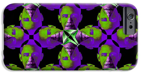 Obama iPhone Cases - Obama Abstract 20130202m88 iPhone Case by Wingsdomain Art and Photography