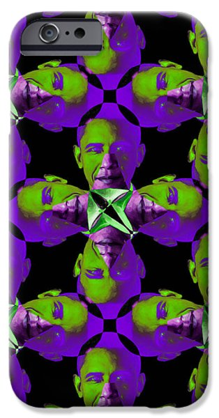 Obama Abstract 20130202m88 iPhone Case by Wingsdomain Art and Photography