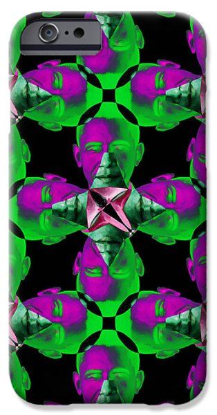 Obama Abstract 20130202p128 iPhone Case by Wingsdomain Art and Photography