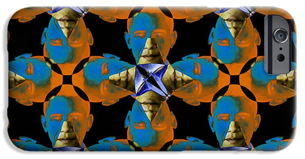 Obama iPhone Cases - Obama Abstract 20130202p28 iPhone Case by Wingsdomain Art and Photography