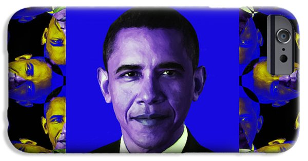 Amreicans iPhone Cases - Obama Abstract Window 20130202m118 iPhone Case by Wingsdomain Art and Photography