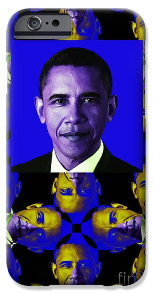 Obama Abstract Window 20130202verticalm118 iPhone Case by Wingsdomain Art and Photography