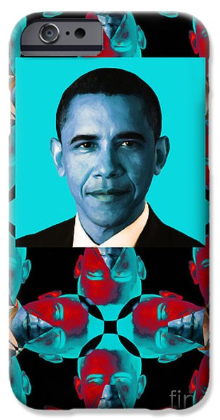 Obama Abstract Window 20130202verticalm180 iPhone Case by Wingsdomain Art and Photography