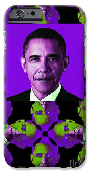 Obama iPhone Cases - Obama Abstract Window 20130202verticalm88 iPhone Case by Wingsdomain Art and Photography