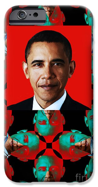 Obama iPhone Cases - Obama Abstract Window 20130202verticalp0 iPhone Case by Wingsdomain Art and Photography