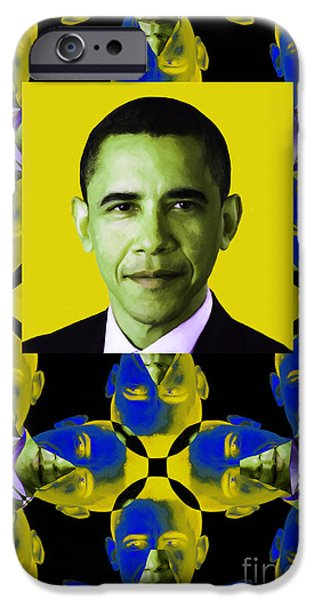 Amreicans iPhone Cases - Obama Abstract Window 20130202verticalp55 iPhone Case by Wingsdomain Art and Photography