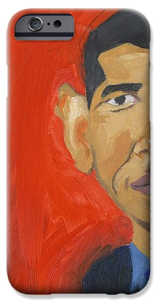 Obama Caricature iPhone Case by Isaac Walker