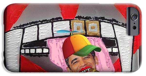 Obama iPhone Cases - Obama End Pot Prohibition iPhone Case by Lisa Piper Menkin Stegeman