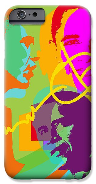 Michelle Obama Digital iPhone Cases - Obama iPhone Case by Jean luc Comperat
