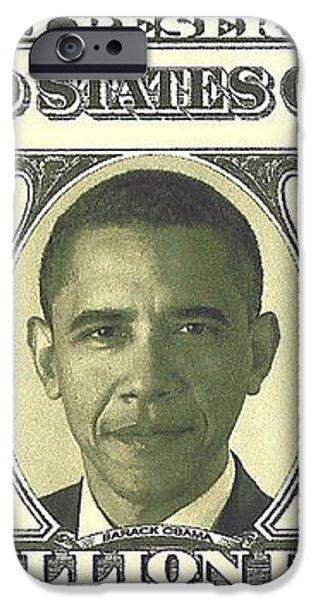 Obama Million Dollar Bill iPhone Case by Charles Robinson