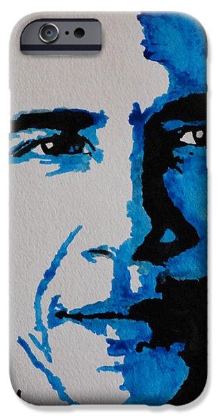 Obama. iPhone Case by Nancy Mergybrower