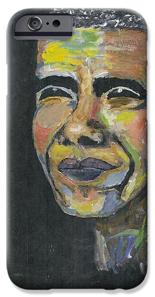 Obama iPhone Cases - Obama iPhone Case by Richard Mangino