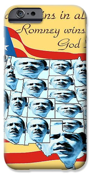 Obama Victory Map America 2012 - Poster iPhone Case by Peter Fine Art Gallery  - Paintings Photos Digital Art