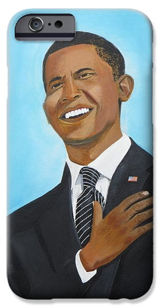 Obama iPhone Cases - Obamas First Inauguration iPhone Case by Artistic Indian Nurse